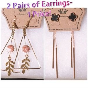 Bundle listing for 2 pairs of earrings!